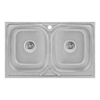 Кухонная мойка Lidz 5080 Decor 0,8 мм (LIDZ5080DEC08)