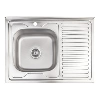 Кухонная мойка Lidz 6080-L Decor 0,6 мм (LIDZ6080DEC06)
