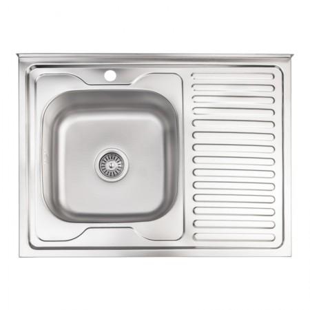 Кухонная мойка Lidz 6080-L Decor 0,8 мм (LIDZ6080LDEC08)