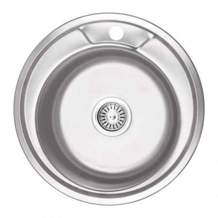 Кухонная мойка Lidz 490-A Micro Decor 0,8 мм (LIDZ490ADEC)