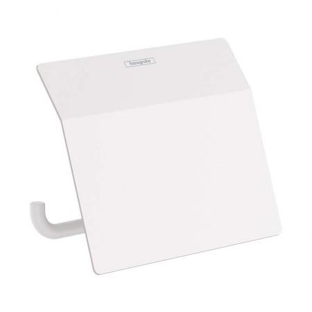 Держатель туалетной бумаги с крышкой Hansgrohe ADDSTORIS 41753700 белого матового цвета