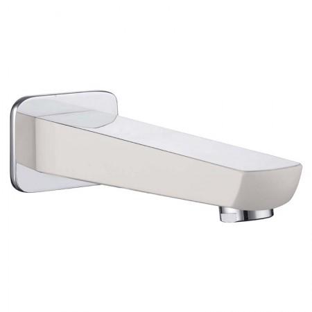 Излив для смесителя скрытого монтажа для ванны IMPRESE BRECLAV хром/белый VR-11245W