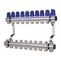 """Коллекторный блок с термостатическими клапанами KOER KR.1100-10 1""""x10 WAYS (KR2636)"""