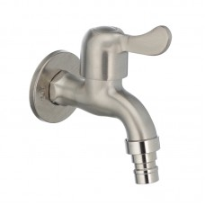 Кран для холодной воды 1/2 MIXXUS BIB-02 (нерж. сталь) (SS0051)