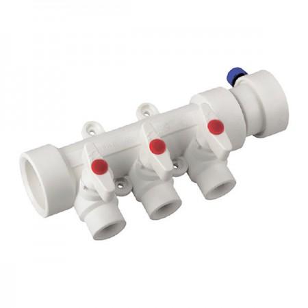 Коллектор 3-way с шаровыми кранами (40x20) PPR KOER K0170.PRO (KP0220)