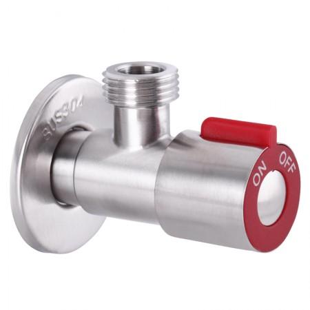 Кран для подключения сантехприборов 1/2x1/2 MIXXUS VAL-02 красный (нерж. сталь) (SS0049)
