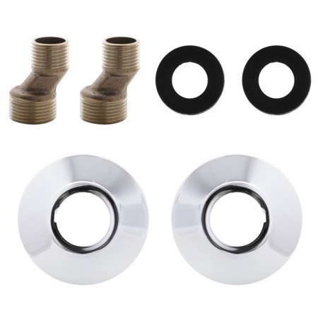 Комплект (пара) эксцентриков и чашек для смесителя ZERIX WOT-018 (ZX3090)