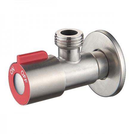 Кран для подкл. сантехприборов ZERIX LR70507H красный (нерж. сталь) (LL1498)