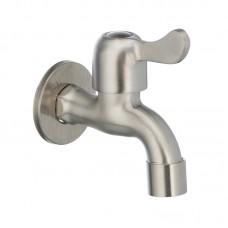 Кран для холодной воды 1/2 MIXXUS BIB-01 (нерж. сталь) (SS0050)