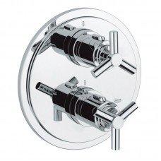 Внешняя часть термостатического смесителя для душа Grohe Atrio 19394000 на два потребителя