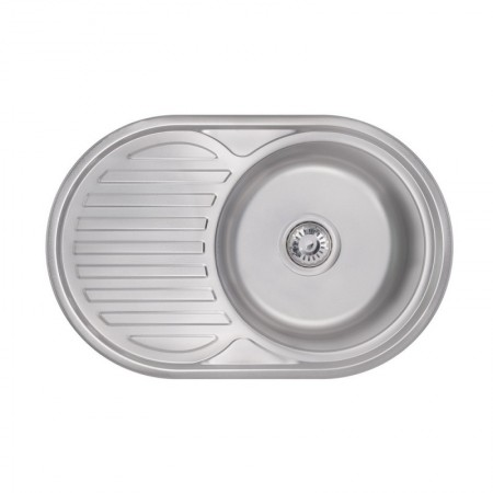 Кухонная мойка Lidz 7750 Satin 0,6 мм (LIDZ775006SAT)