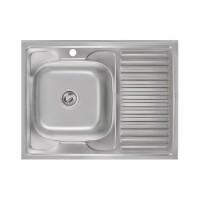 Кухонная мойка Lidz 6080-L Satin 0,6 мм (LIDZ6080L06SAT)