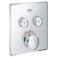 Внешняя часть термостатического смесителя для душа Grohe Grohtherm SmartControl 29124000 на два потребителя