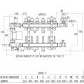 """Коллекторная группа Icma 1"""" 8 выходов, с расходомером №A3K013"""
