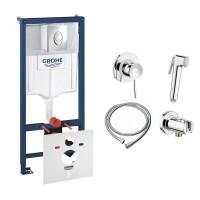 Комплект Grohe инсталляция Rapid SL 38721001 + набор для гигиенического душа со смесителем BauClassic 111048