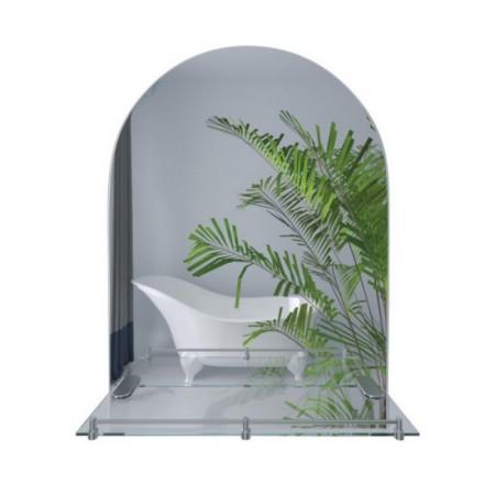 Зеркало Lidz (WHI)-140.07.03 с полкой 700х500