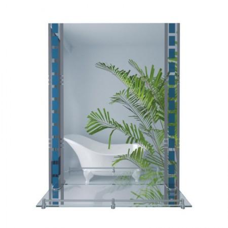 Зеркало Lidz (WHI)-140.07.06 с полкой 700х500