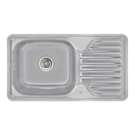 Кухонная мойка Lidz 7642 Satin 0,8 мм (LIDZ764208SAT)