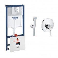 Комплект Grohe инсталляция Rapid SL 38721001 + набор для гигиенического душа со смесителем BauClassic 2904800S