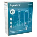 Кран-водонагреватель проточный NZ 3.0кВт 0.4-5бар для кухни гусак прямой на гайке с дисплеем AQUATICA (NZ-6B242W)