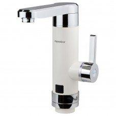 Кран-водонагреватель проточный HZ 3.0кВт 0.4-5бар для кухни гусак прямой на гайке (W) AQUATICA (HZ-6B243W)