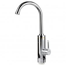 Кран-водонагреватель проточный HZ 3.0кВт 0.4-5бар для кухни гусак ухо на гайке (C) AQUATICA (HZ-6B143C)