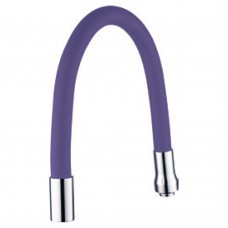 """Излив (гусак) 3/4"""" для кухни силиконовый фиолетовый AQUATICA (XH-5243)"""