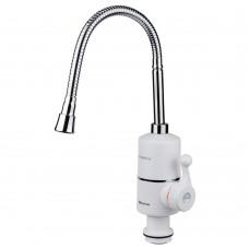 Кран-водонагреватель проточный NZ 3.0кВт 0.4-5бар для кухни гусак гофрированный на гайке AQUATICA (NZ-6B312W)