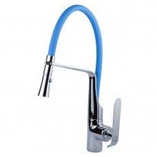 Смеситель ADDA Ø35 для кухни излив силиконовый синий на гайке CORSO (EB-4B519C) (9635100)