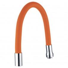 """Излив (гусак) 3/4"""" для кухни силиконовый оранжевый AQUATICA (XH-5242)"""