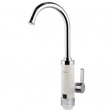 Кран-водонагреватель проточный HZ 3.0кВт 0.4-5бар для кухни гусак ухо на гайке (W) AQUATICA (HZ-6B143W)