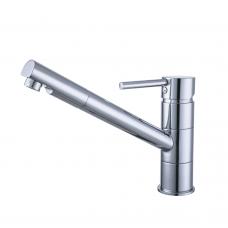 Смеситель HF Ø35 для кухни излив прямой 210мм на шпильке AQUATICA HF-2B217C (9705100)